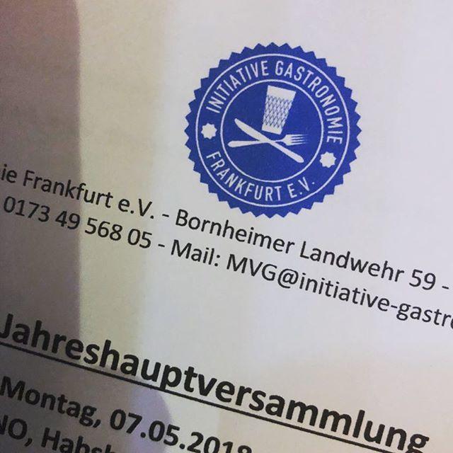 #Meeting #igf #initiativegastronomiefrankfurtev #frankfurt #destino