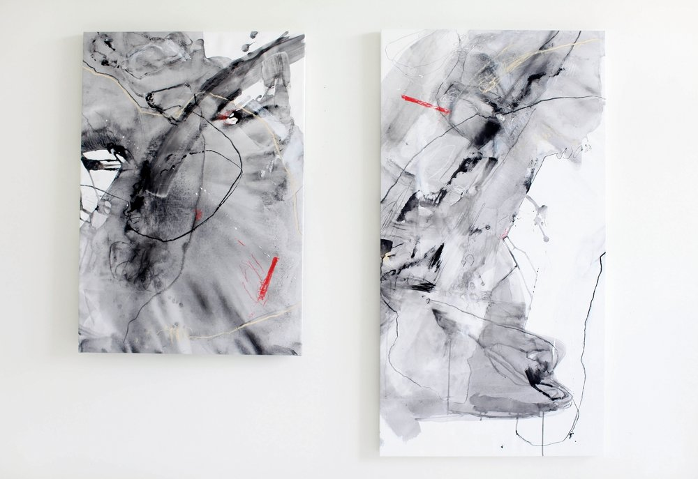 Torn, I & II (installation view)