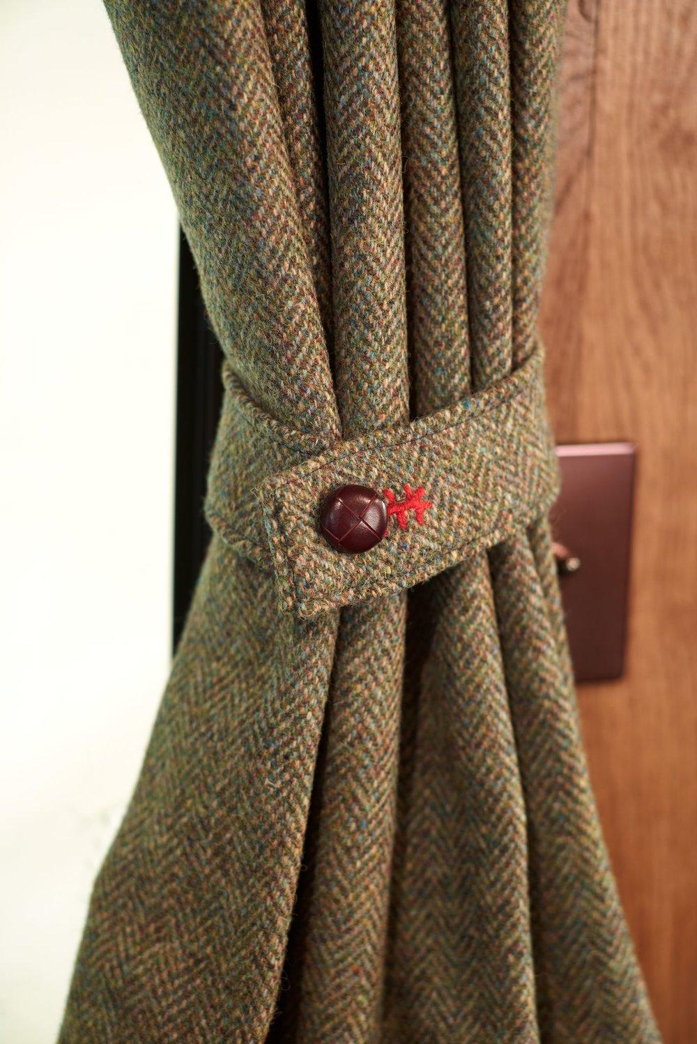 Bespoke tweed curtains