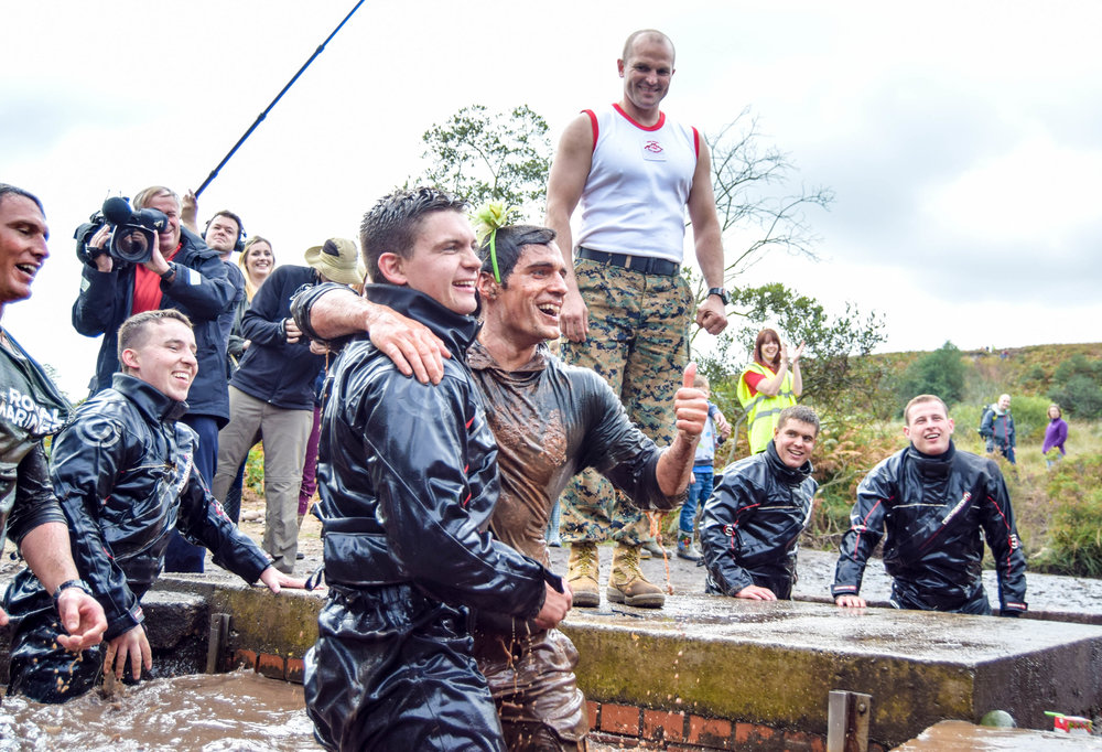 Superman actor Henry Cavill takes part in the 2016 Royal Marines Commando Challenge