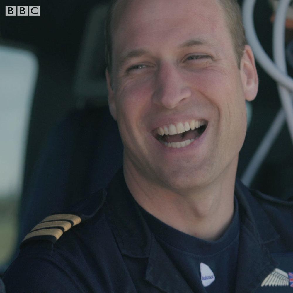 PRINCE WILLIAM the PILOT -  bbc