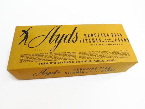 Ayds that was a popular appetite-suppressant candy in the 1970s and early 1980s