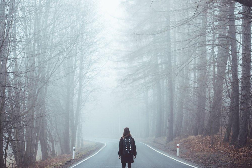 Chemin dans le brouillard