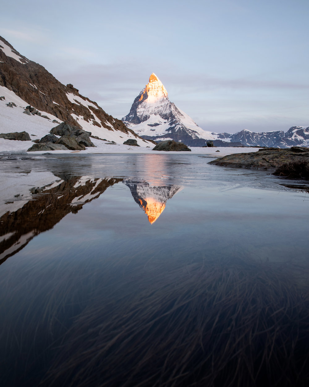 """""""Subtle sunrise at the Riffelsee"""" - June 15th, 2018 - Riffelsee, Switzerland -"""