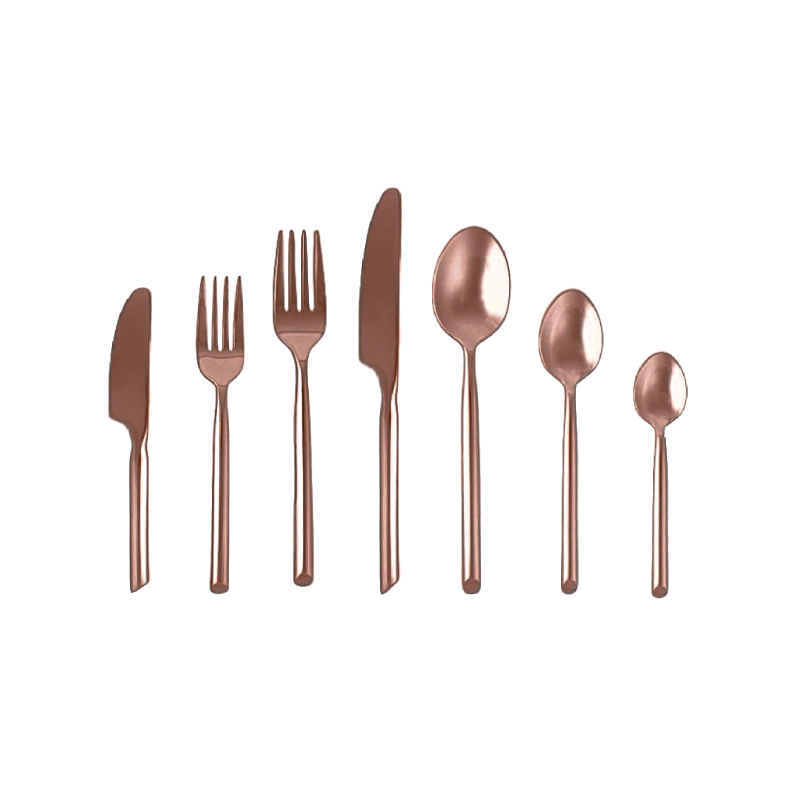 Capri Copper / Rose Gold Flatware  | Atlanta Party Rentals