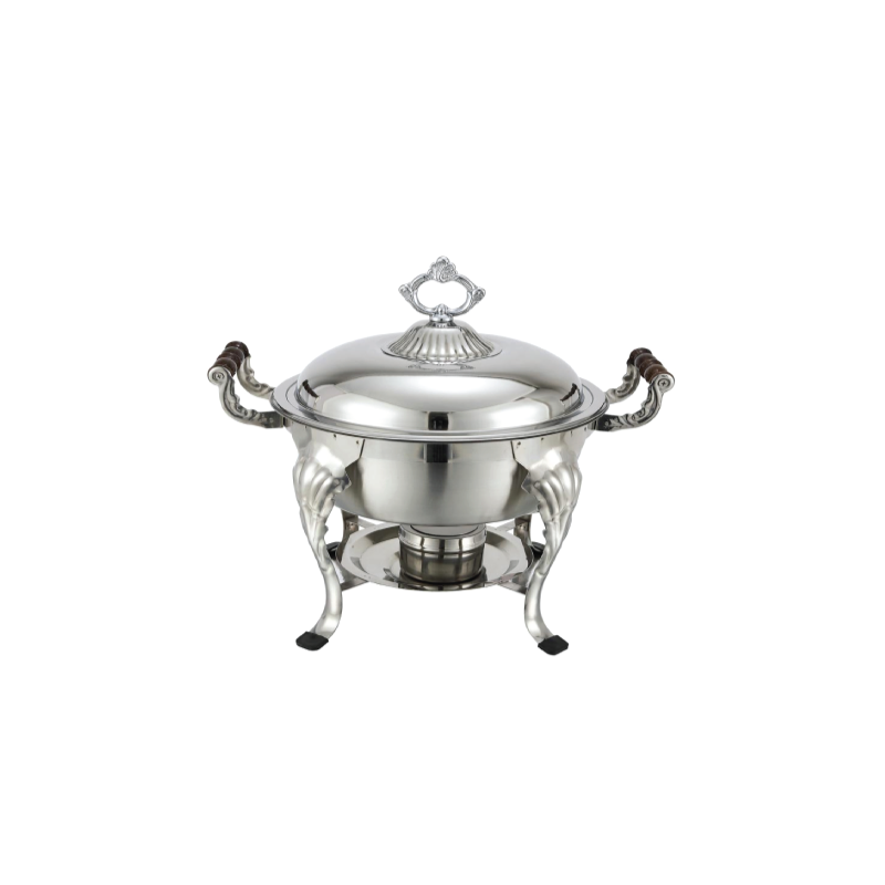 Stainless Round Chafer   Atlanta Party Rentals