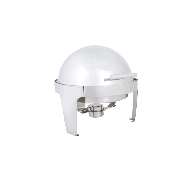 Round Stainless Roll Top Chafer   Atlanta Party Rentals