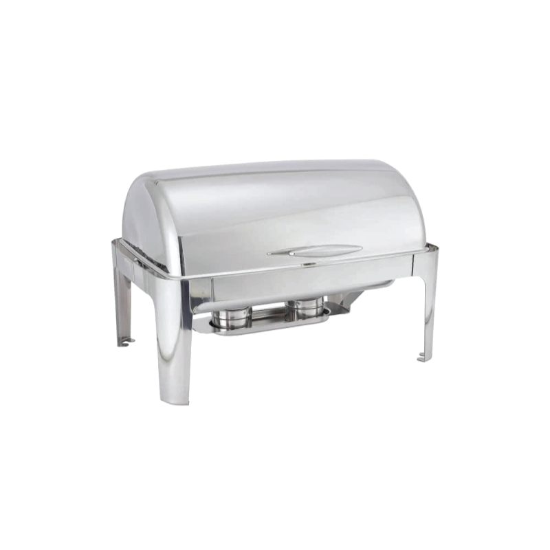 Rectangular Stainless Roll Top Chafer   Atlanta Party Rentals