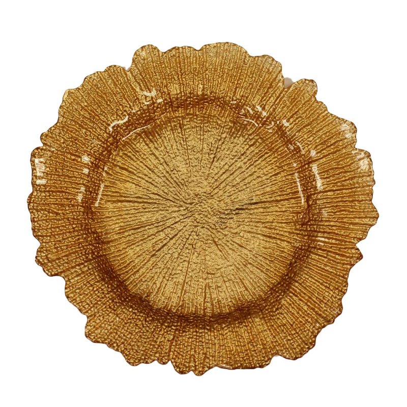 Copper Sponge Glass Charger | Atlanta Party Rentals