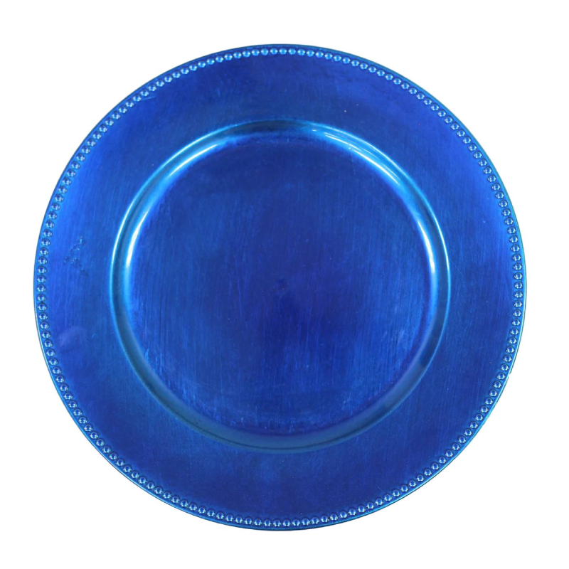 Blue Beaded Acrylic Charger | Atlanta Party Rentals