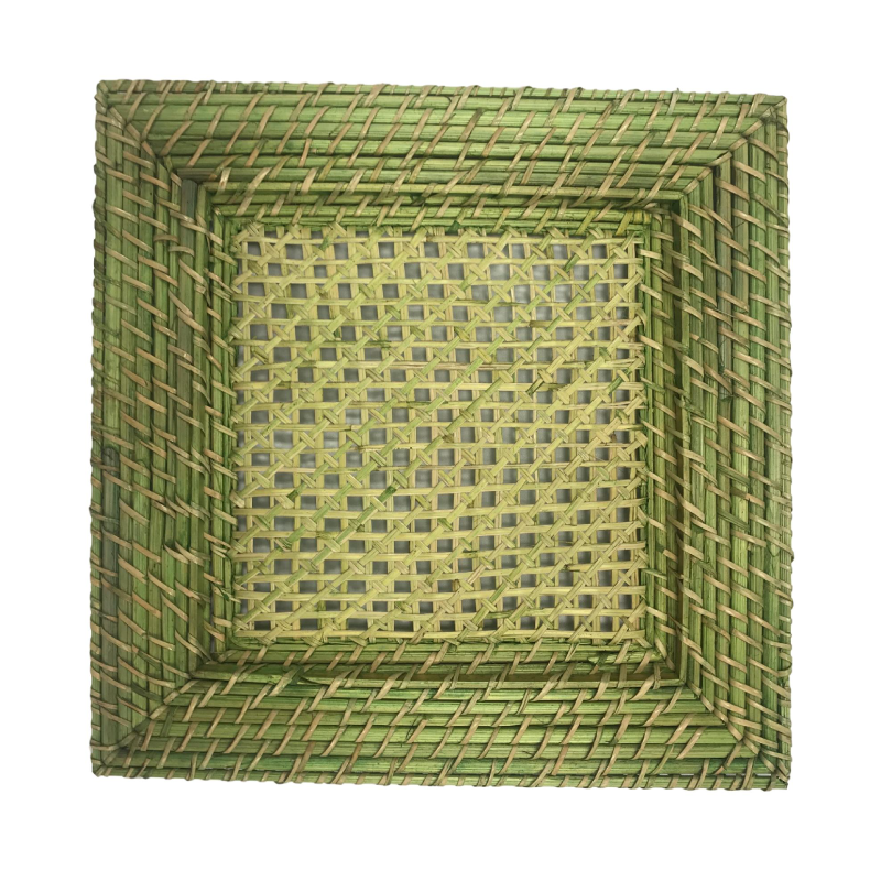 Green Wicker Charger  | Atlanta Party Rentals