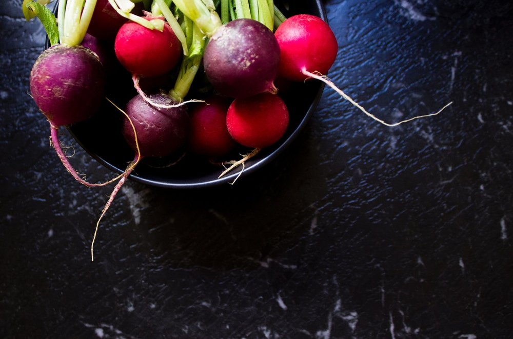 Radishes are high in Vitamin C!