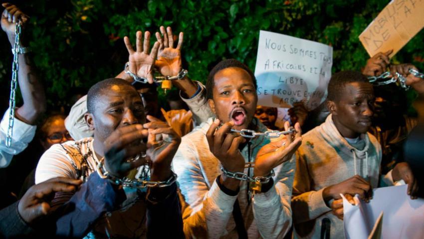 """Africans being """"sold"""" as """"slaves"""" in Libya - 2017"""