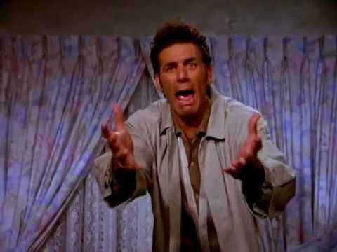 """The irrepressible Cosmo Kramer:  Seinfeld 's Michael Richards """"in the zone"""""""