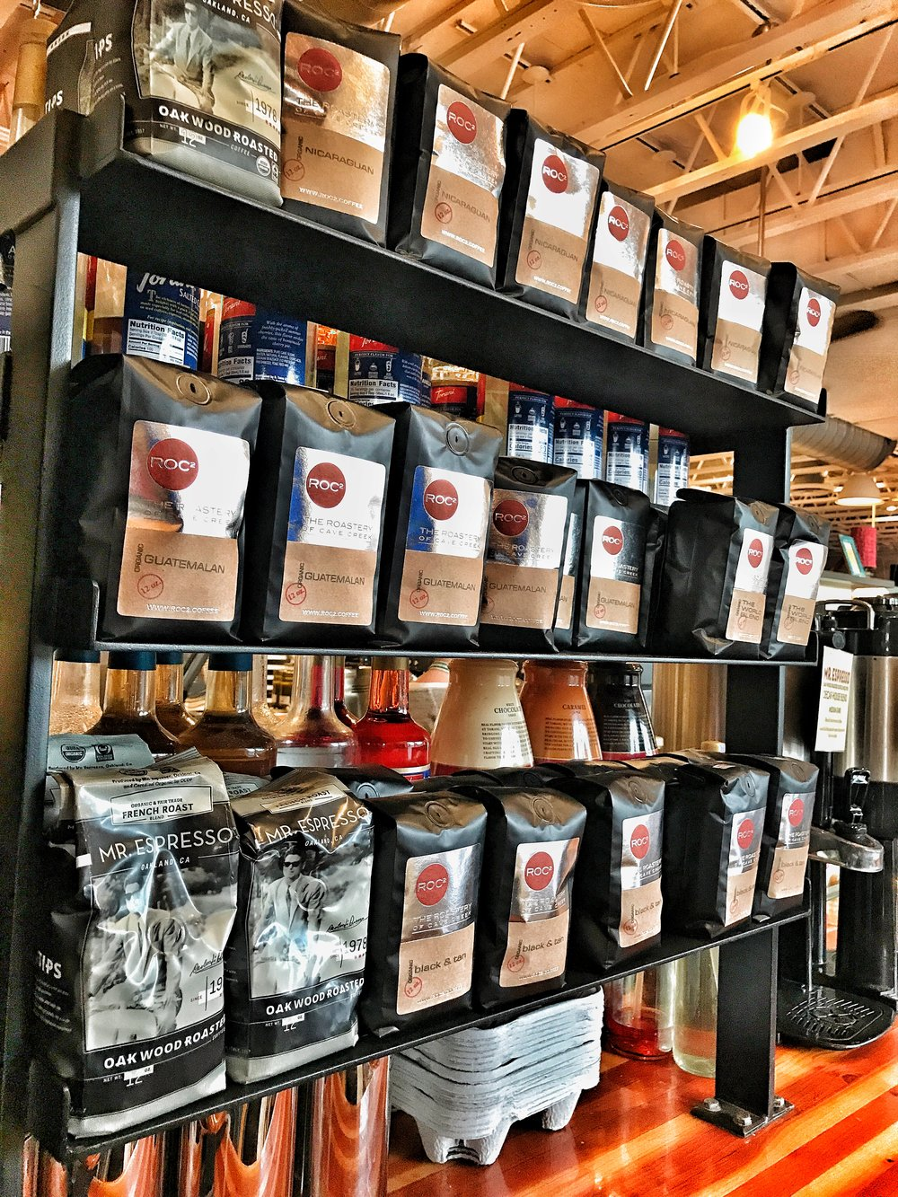 ROC2 retail coffee available at La Grande Orange - Phoenix