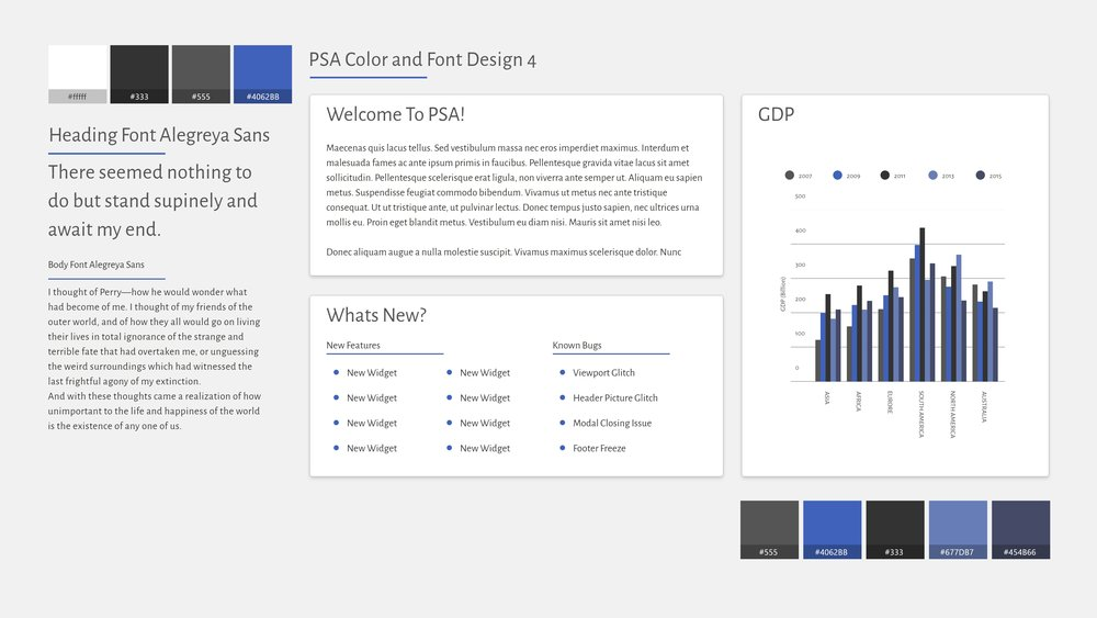 Color and Font Preview