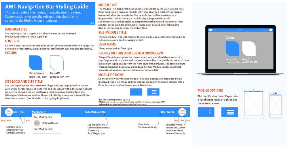 Navigation Bar Style Guide