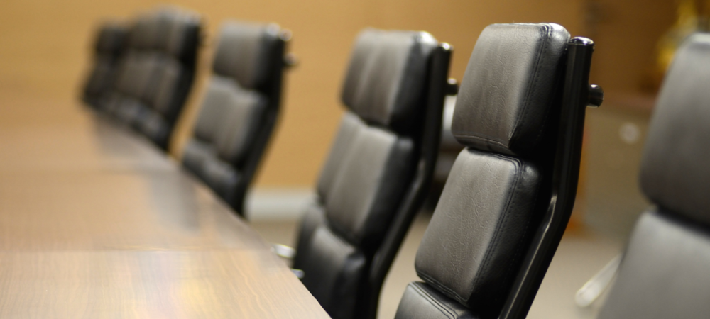 Photo of board room table