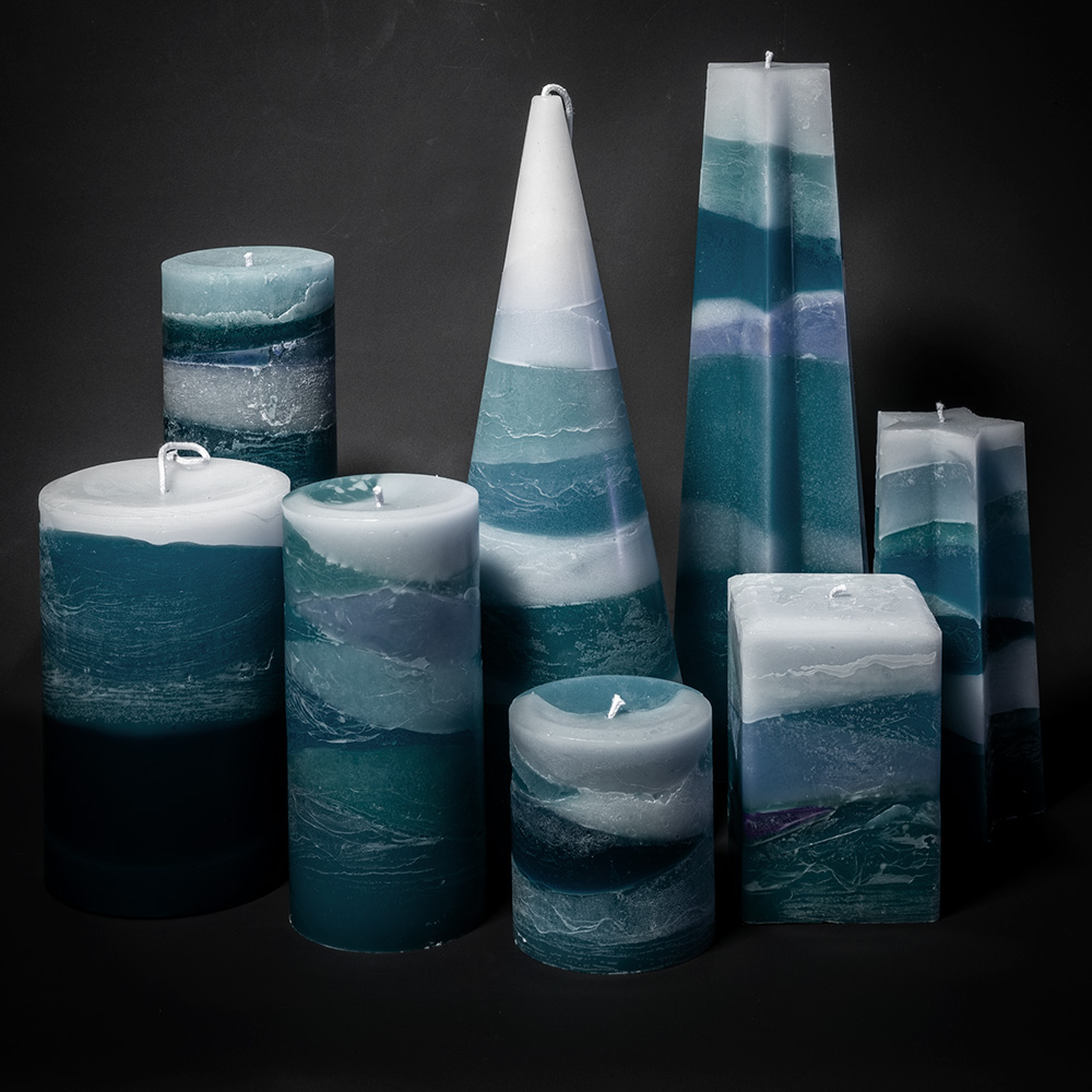 The Skye Storm series candle range.