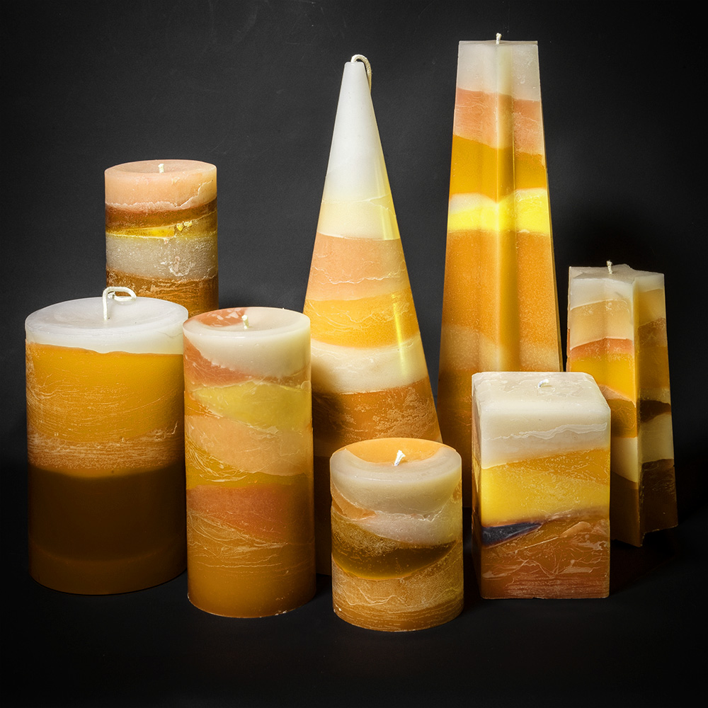 The Skye Sunset series candle range.