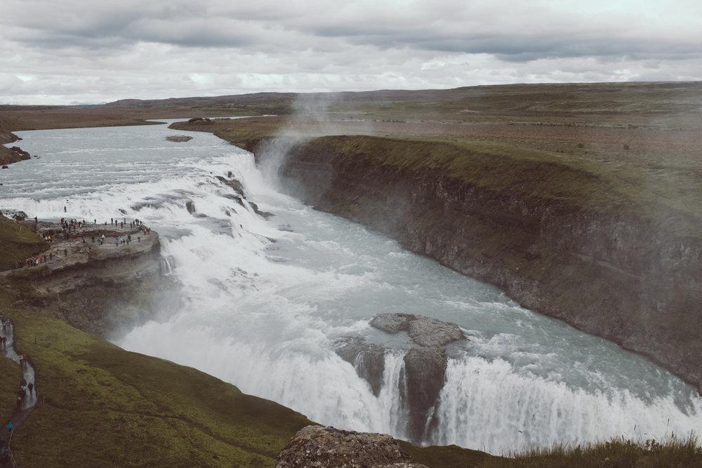Gullfoss Waterfall - Iceland Ring Road Itinerary
