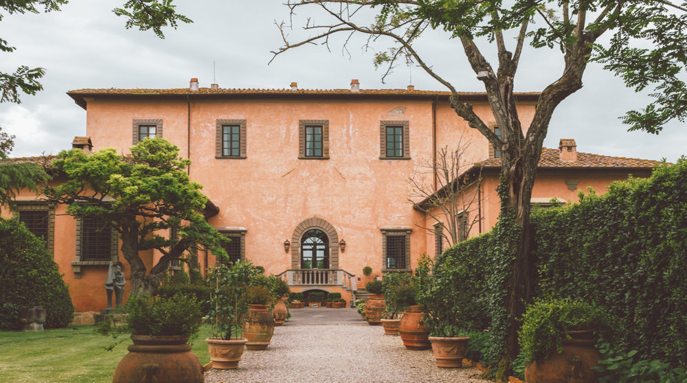 Tuscany Villa Mangiacane Chianti Pink Villa Luxury Italy