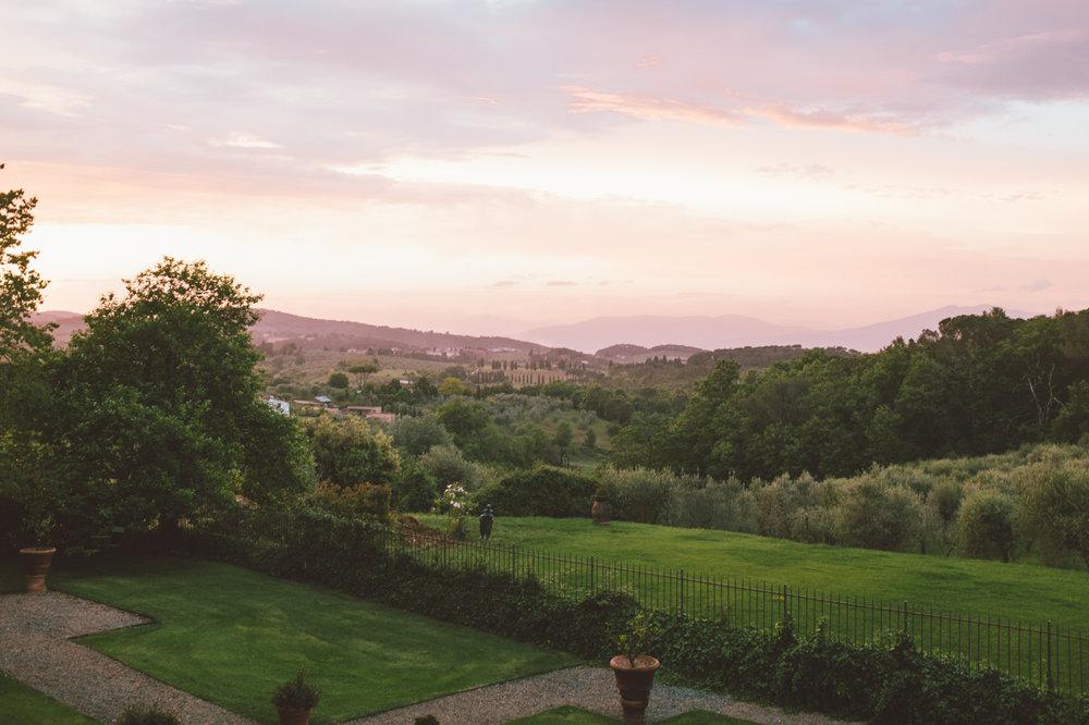 Chianti Villa Mangiacane Sunset Tuscany Italy
