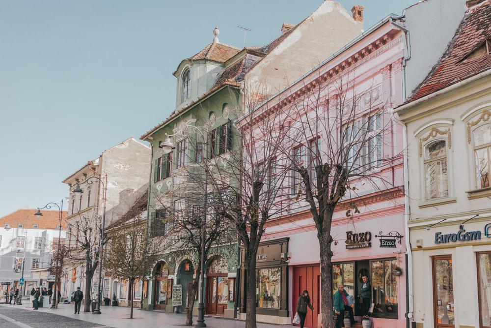 Strada Nicolae Balcescu Sibiu Romania