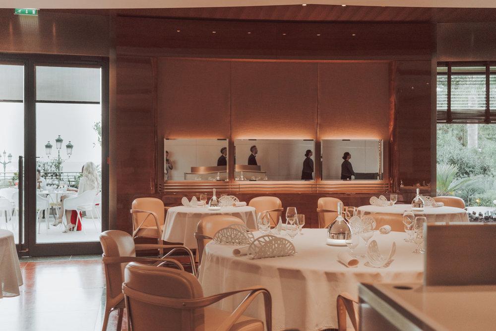 Dining at Alain Ducasse Le Luis XV in à l'Hôtel de Paris, Monaco