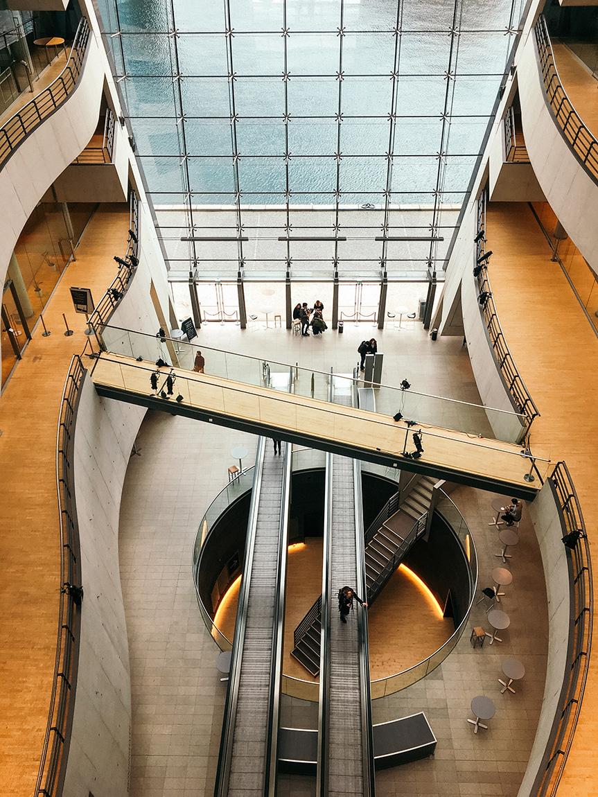 The black diamond library Copenhagen Denmark