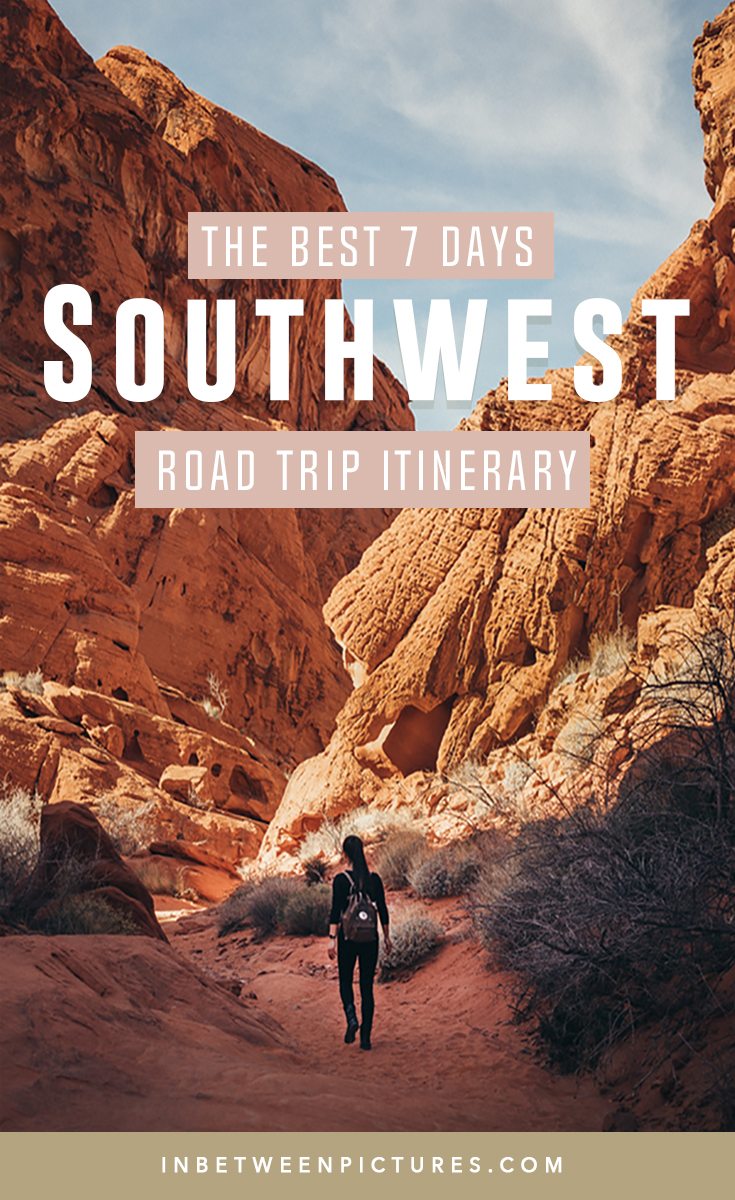The best 7 days Southwest Itinerary. Your day by day guide and the best parks National Parks to visit in Arizona, Nevada, Utah - #RoadTrip #USA #NationalParks