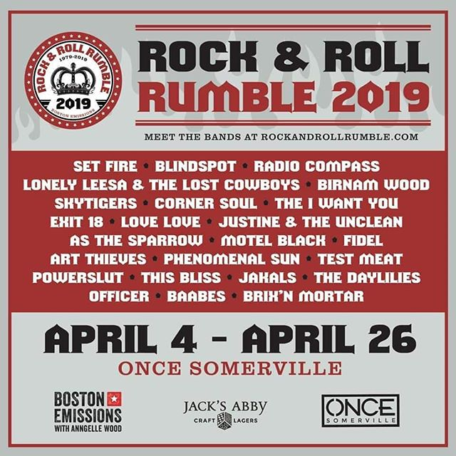 Boston! Let's go! We're psyched to be part of the 2019 @rocknrollrumble with so many rad friends! The rumble is a giant party and a killer showcase with some of Boston's best bands, and we're honored to be part of this community.  Rock the F out! Let's have some fun in April! #boston #alternativerock #shoegaze
