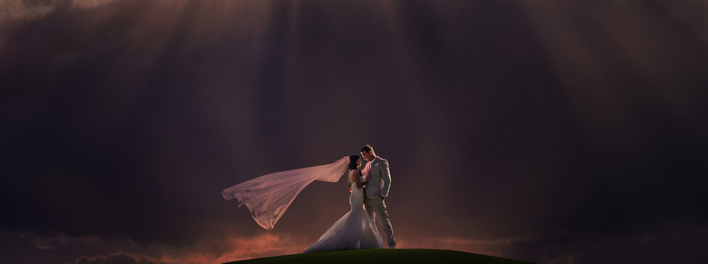 Arizona Mesa gold course couple wedding dramatic silouette Photography-12.jpg