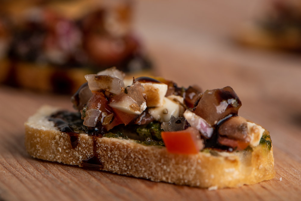 - This bruschetta not only looked great, we sampled a bit of it after taking the photos - and it was equally delicious.