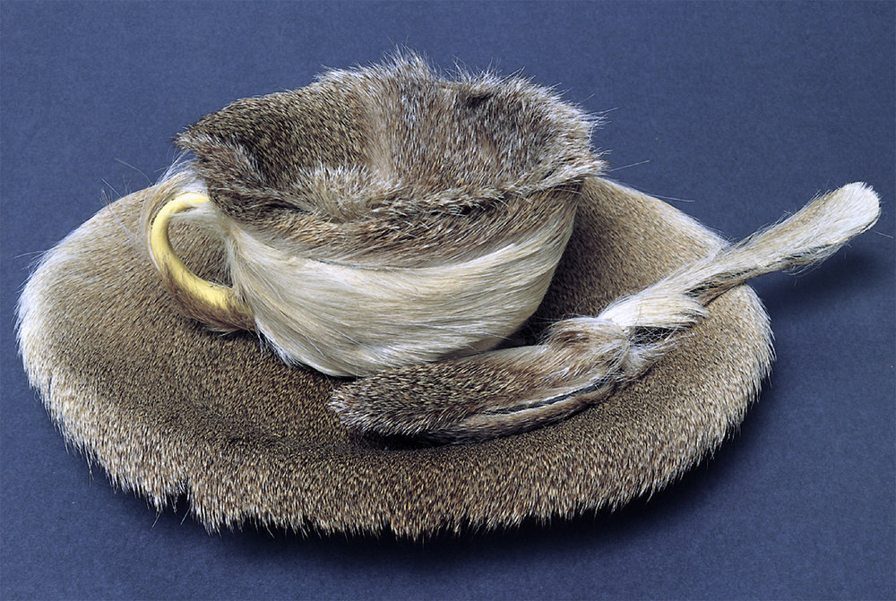 Object, 1936, Fur-covered cup, saucer & spoon, Meret Oppenheim