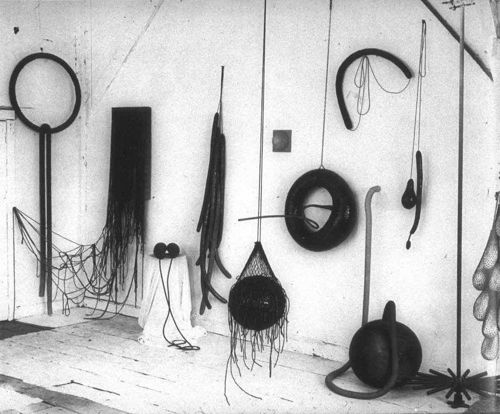Eva Hesse,Photograph of Hesse's studio, early 1966
