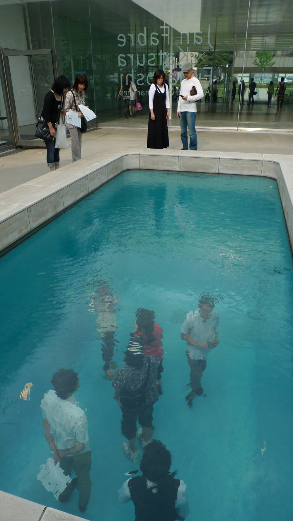 Fake Swimming Pool  by Leandro Erlich, 2004, 21st Century Art Museum, Japan
