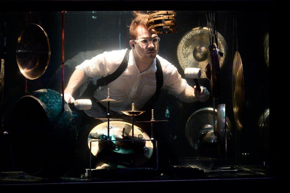 AquaSonic , underwater concert at Tramway, Glasgow, 2017, photo credit Herald Scotland