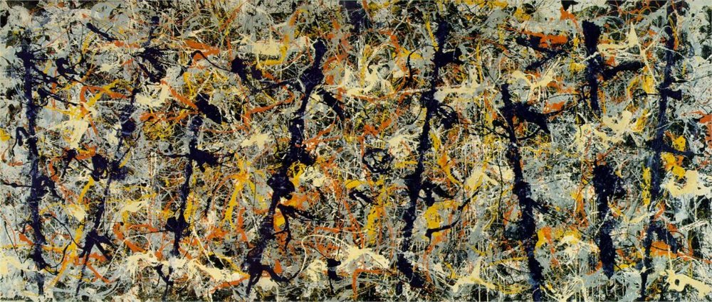 Blue Poles by Jackson Pollock, 1952