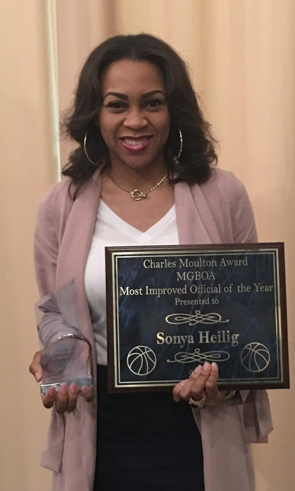 2018 Charles Moulton Most Improved Award: Sonya Heilig