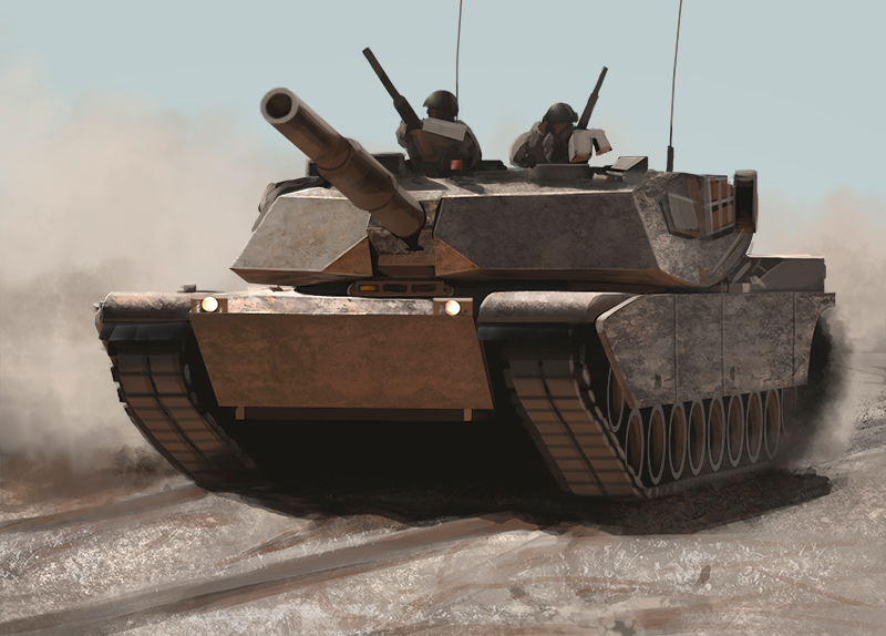 Photo study of a tank