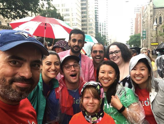 The Zoom.ai marching with Microsoft Canada in the pride parade this year.