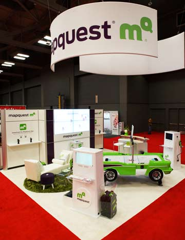 SXSW MapQuest Booth 2011 | Photo courtesy of Fresh Wata