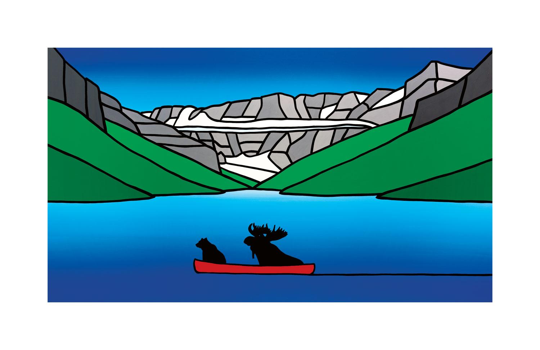 #017 Bear And Moose At Lake Louise  Carter-Ryan