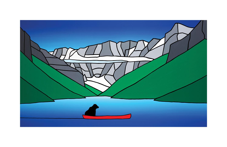 #022 The Curious Bear At Lake Louise  Carter-Ryan