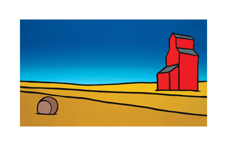 #013 The Red Grain Elevator On The Prairy  Carter-Ryan