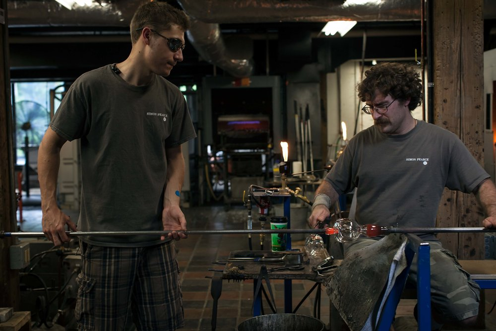Simon Pearce apprenticeship program Glassblowing Quechee