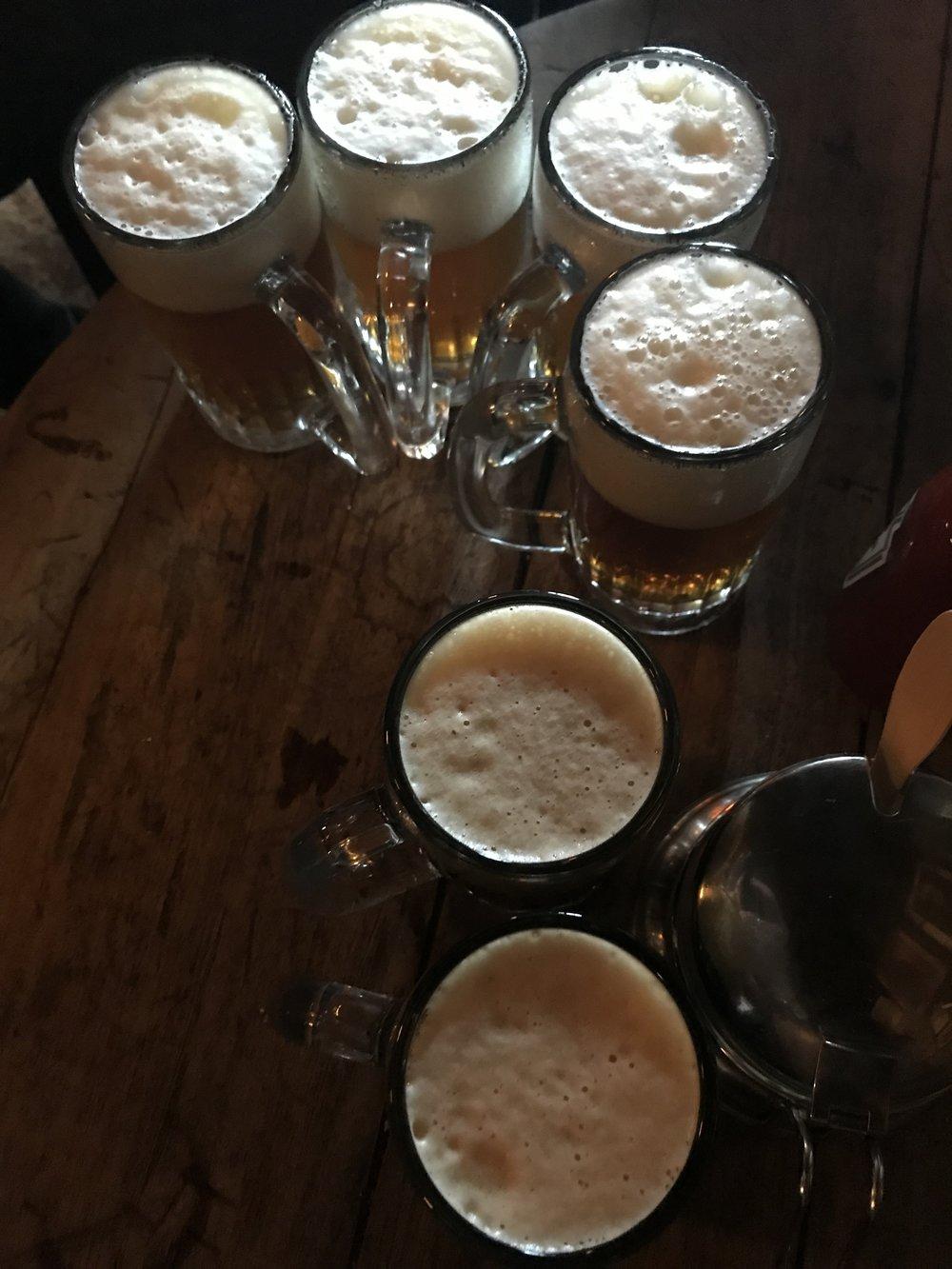 Beers in Mcsorley's