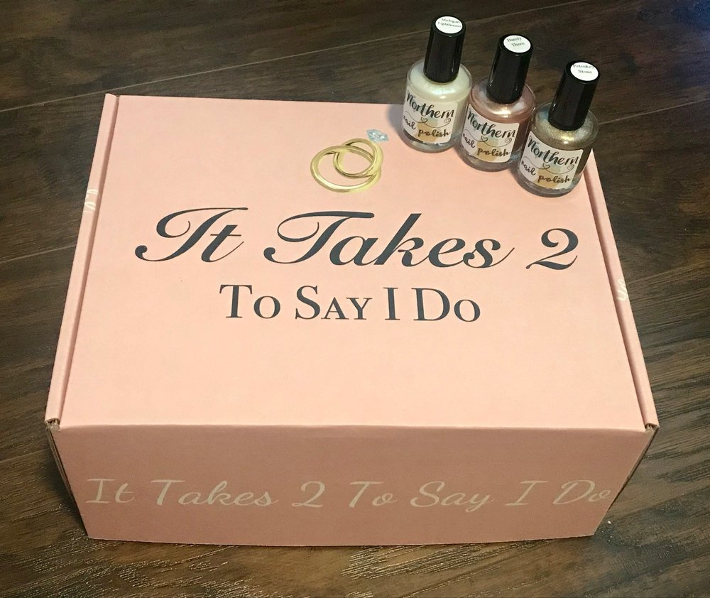 Northern Nail Polish has teamed up with the local wedding planning subscription box, It Takes 2 To Say I Do!