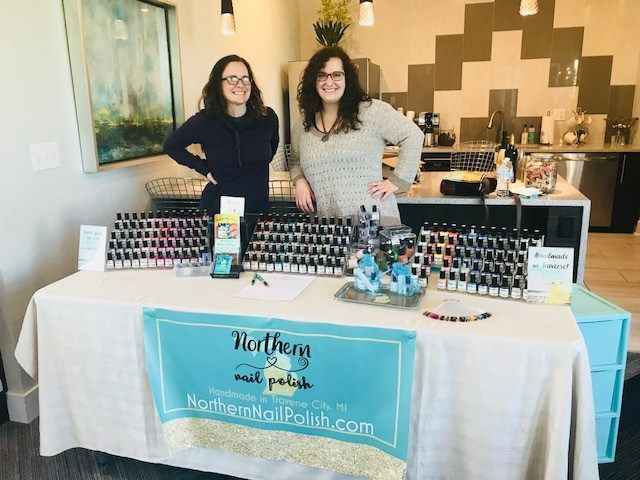 Katie on the left, KC (owner) on the right at a local vendor show.
